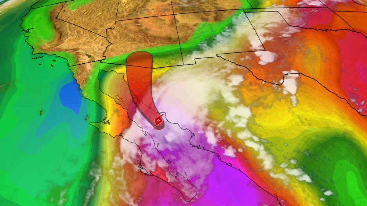 Tropical Storm Lorena Is Moving Over the Gulf of California and Will Increase Rainfall in U.S. Desert Southwest