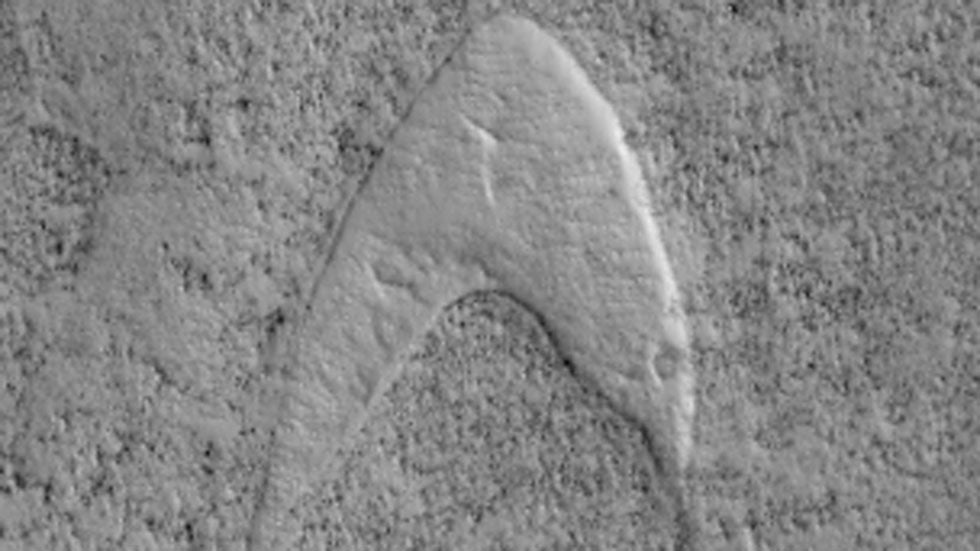 Star Trek Logo Found on Mars?