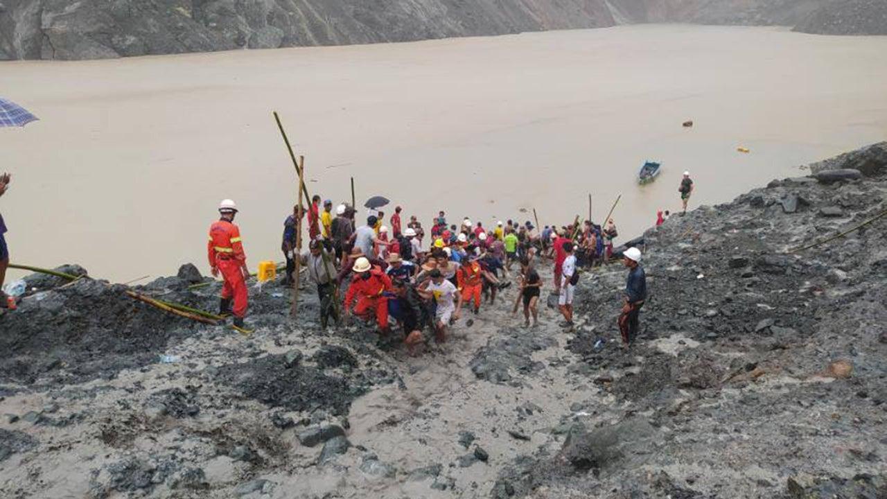 Landslide at Myanmar Jade Mine Kills at Least 162; Heavy Rain Blamed