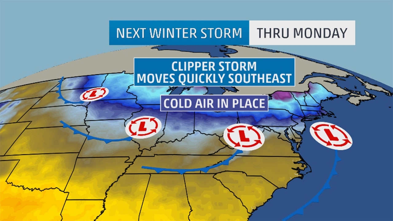 another winter storm will bring snow from the midwest to