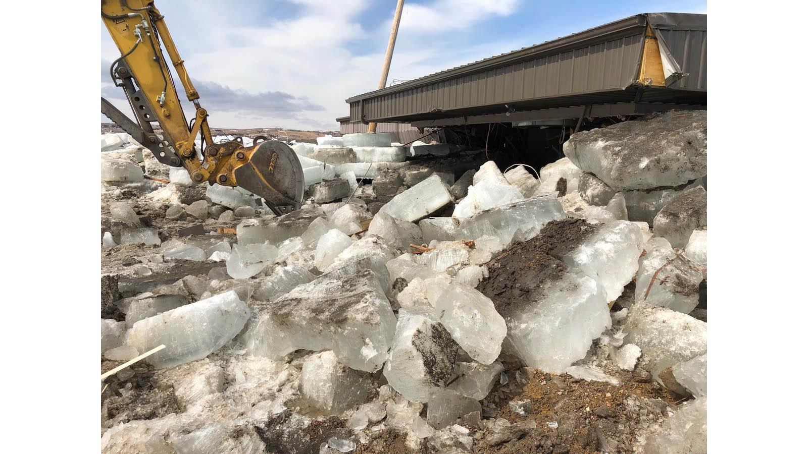 giant ice slabs along nebraska u2019s niobrara river among