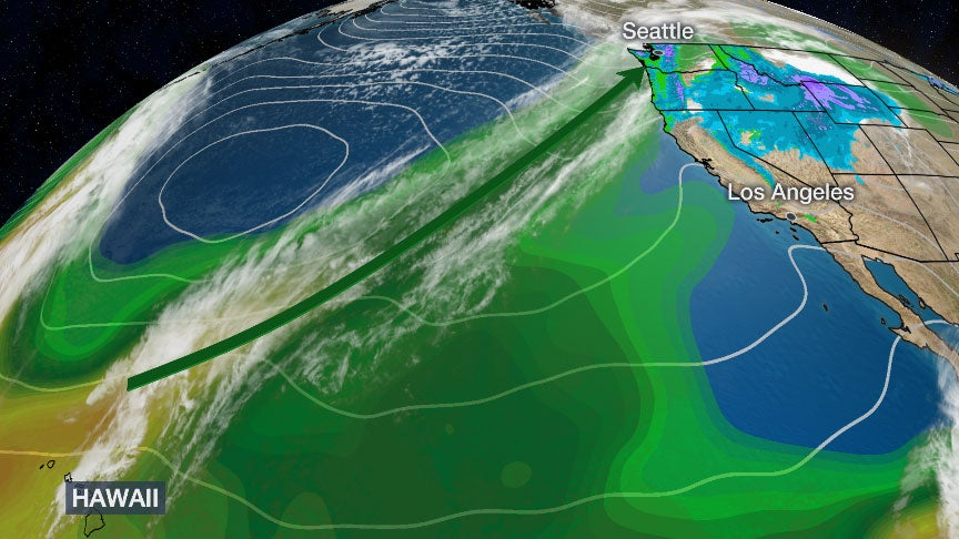 The Latest Atmospheric River to Bring Flooding, Landslides, Cascades Snow to Pacific Northwest | The Weather Channel