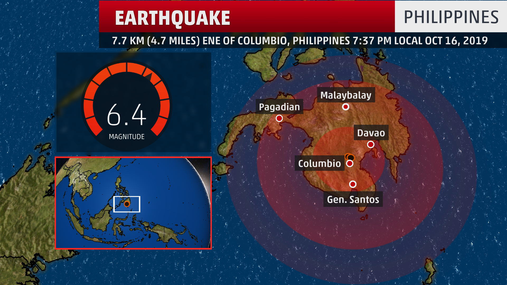 Strong Earthquake Damages Buildings in Southern Philippines; One Person Reported Dead
