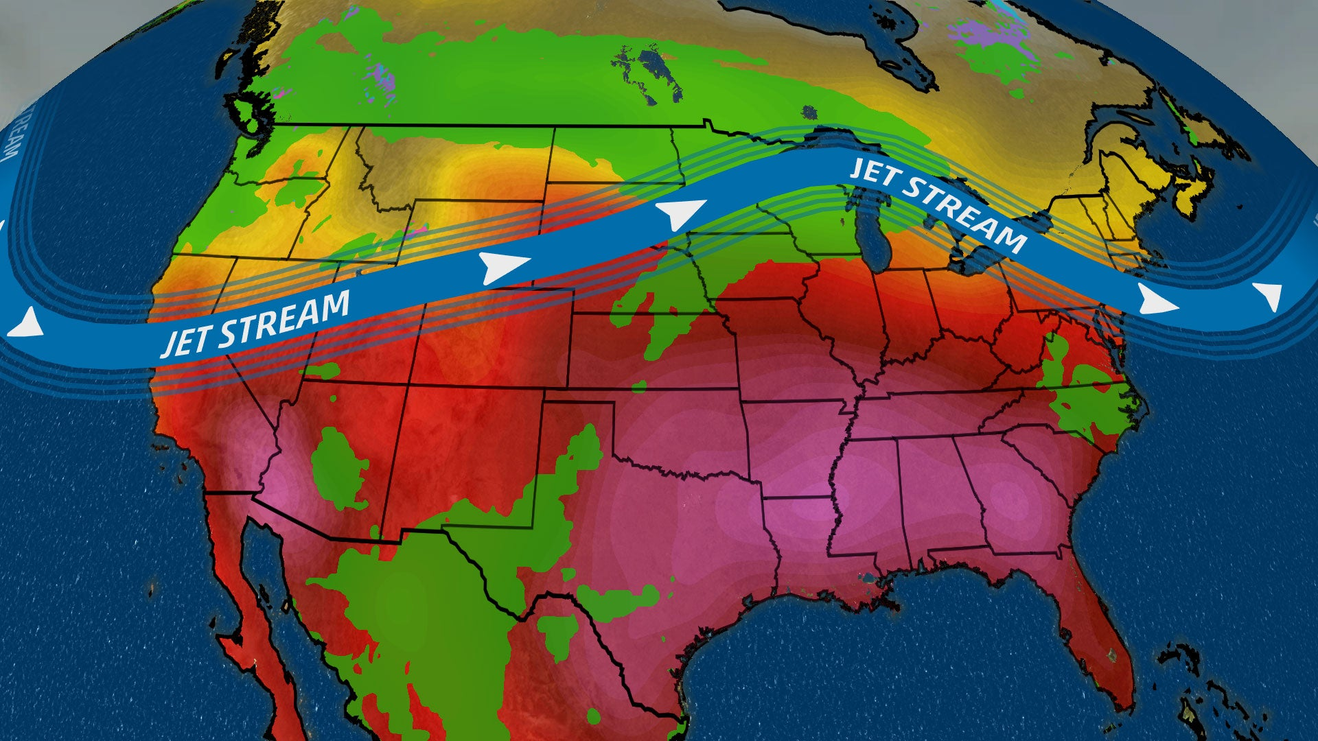 Pattern Change Will Bring Heat Wave to the South, Rain and Cooler Temperatures in North and West in the Week Ahead