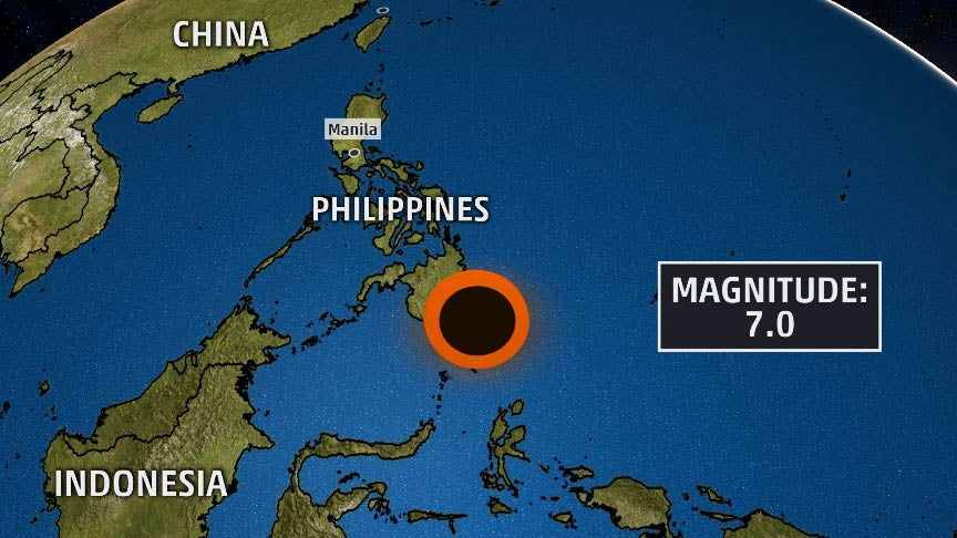 7 0 magnitude earthquake strikes off southern philippines