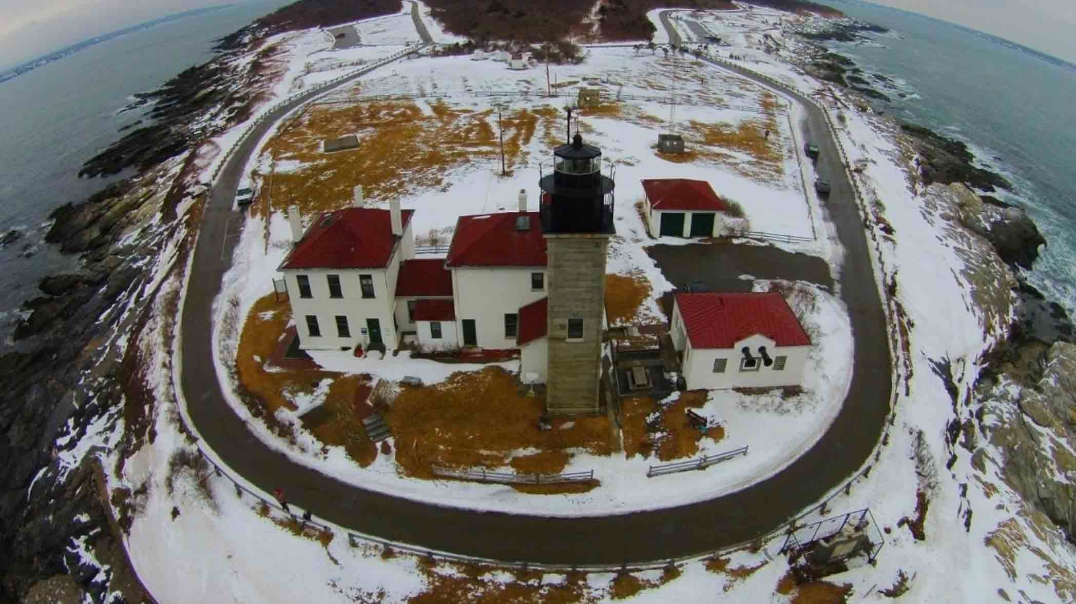 Erosion, Extreme Weather and Climate Change Force Closure of Road to Historic Rhode Island Lighthouse