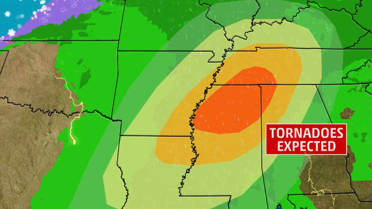 widespread severe weather likely saturday in the south