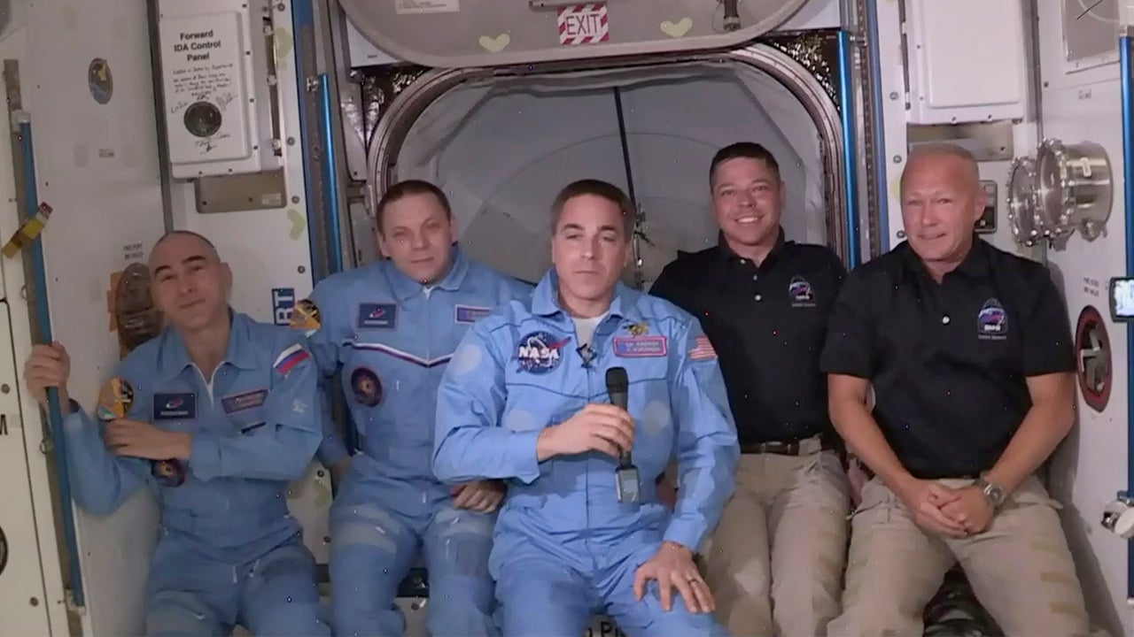 Hurley and Behnken Aboard Space Station After SpaceX Dragon Crew Capsule Endeavour Successfully Docks