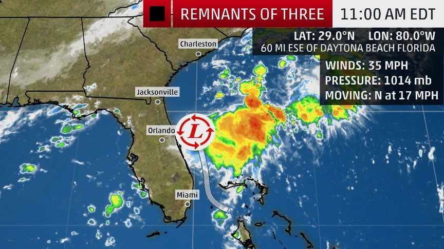 tropical depression three not a threat to southeast u s   national hurricane center also