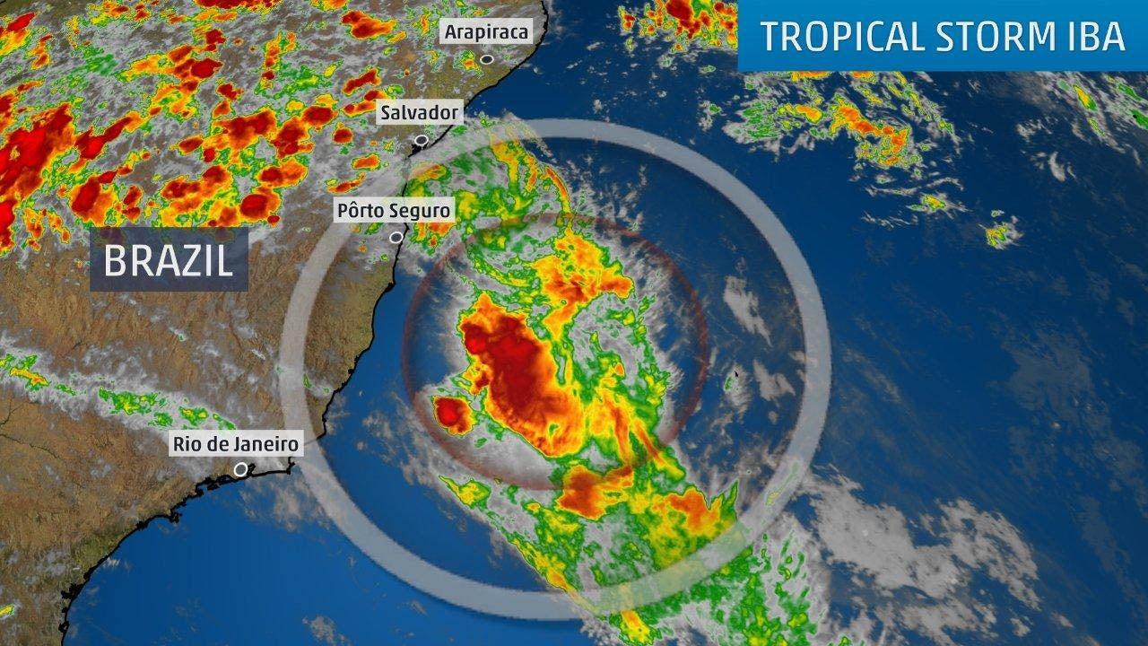 rare south atlantic tropical storm iba forms off the coast of brazil
