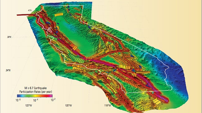 california s odds of an 8 0 magnitude quake rising according to new usgs study the weather channel