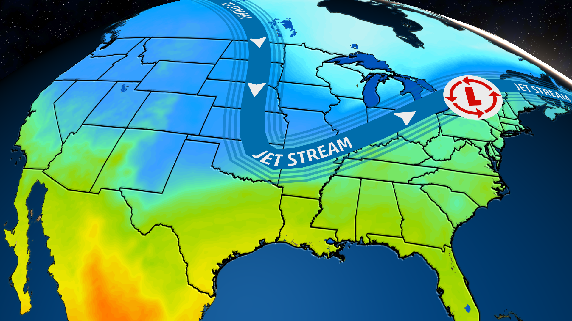 big temperature drop in plains  south and east may break a
