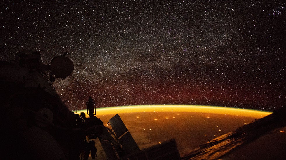 Amazing Airglow Makes Earth Appear Orange