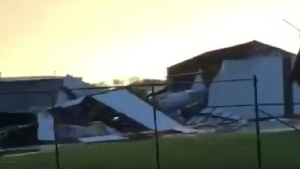 Reported Tornado Damages Airport in Southeastern Minnesota