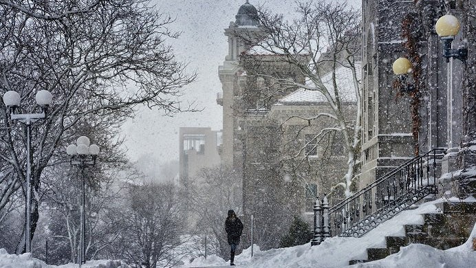 syracuse  new york  tops 100 inches of snow with a month of winter left