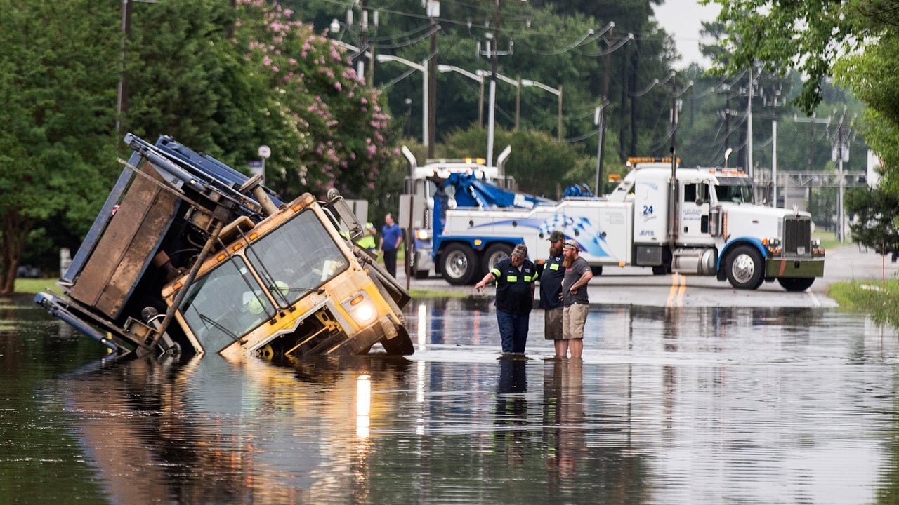 Virginia Flooding Closes Richmond Airport for More Than Two Hours; Water Rescues Reported