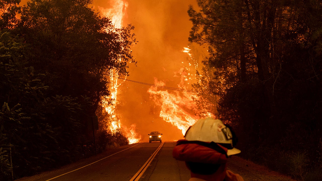 california wildfires update  carr fire invades redding  at