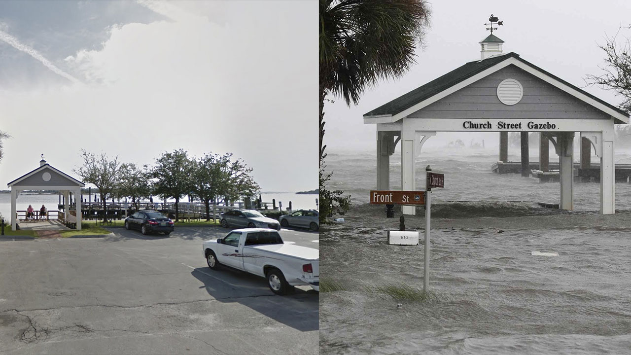 Before and After Photos Show Florence's Wrath