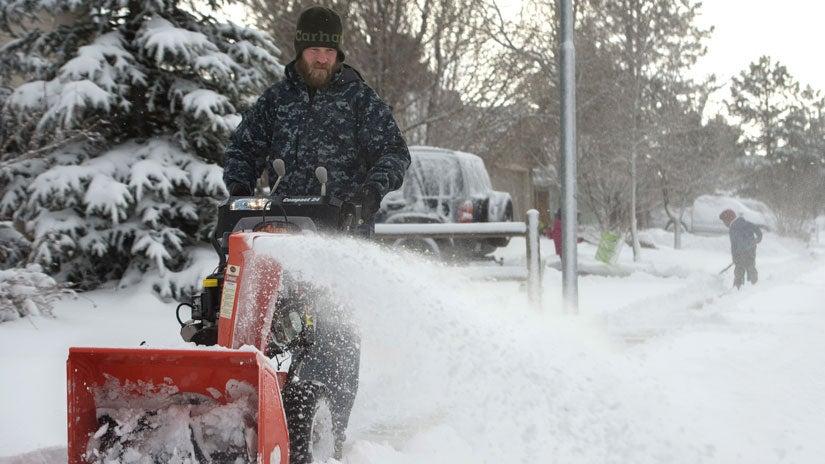 winter storm kayla dumps feet of snow  woman killed in