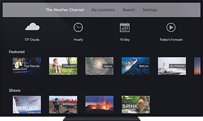 The Weather Channel for Apple TV