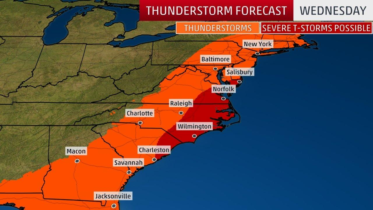 severe thunderstorms with damaging winds possible in the