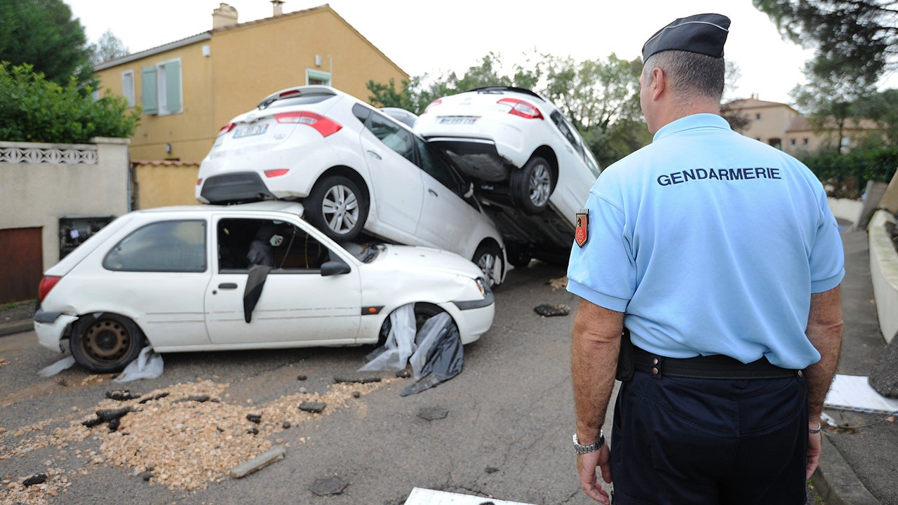 montpellier  france  floods for second time in nine days