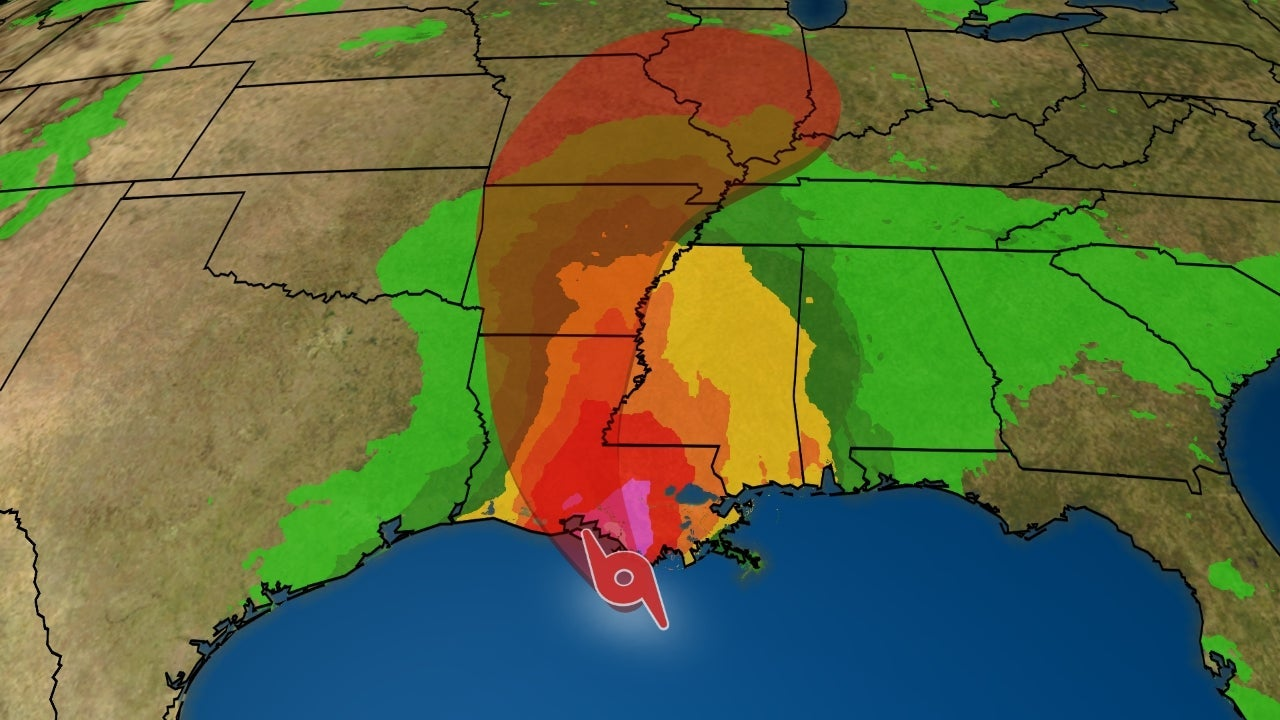 tropical storm barry inches toward gulf coast  heavy rain