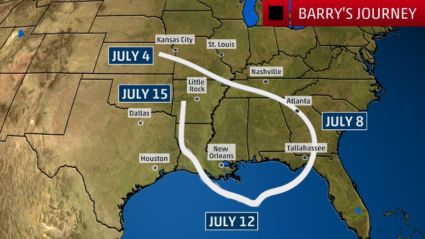 The Long, Strange Trip to Becoming Hurricane Barry