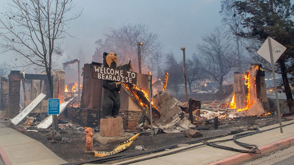 A Town Destroyed: Before-and-After Photos from Paradise, California