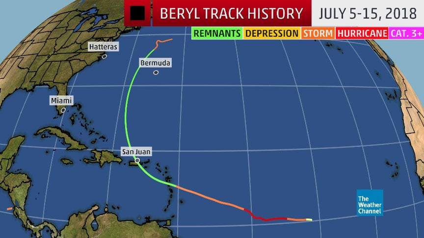 Beryl Was the First Atlantic Hurricane of 2018; Remnants Caused Flooding in the Caribbean