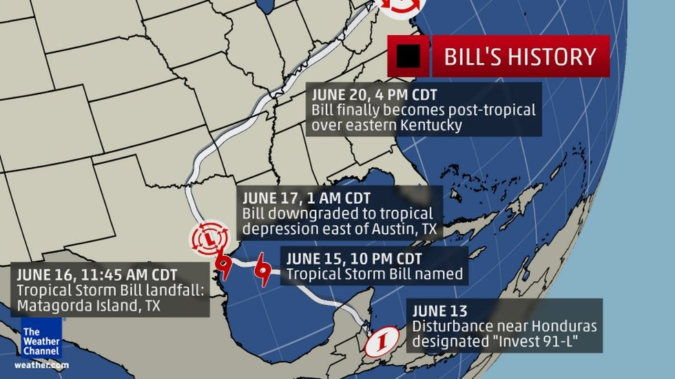 tropical storm bill leaves behind flooding in central u s