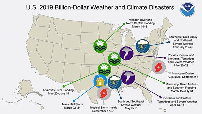 U.S. Has Already Had 10 Billion-Dollar Weather Disasters in 2019, NOAA Says