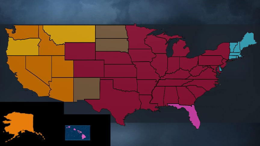 Here's Which Type of Billion-Dollar Weather Disaster Has Occurred Most Frequently in Each State Since 1980