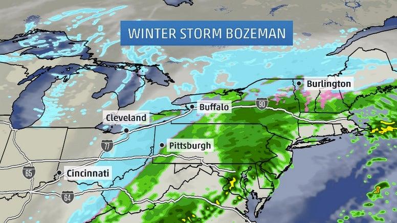 winter storm bozeman recap  snow blankets northwest  rockies  plains  midwest  northeast