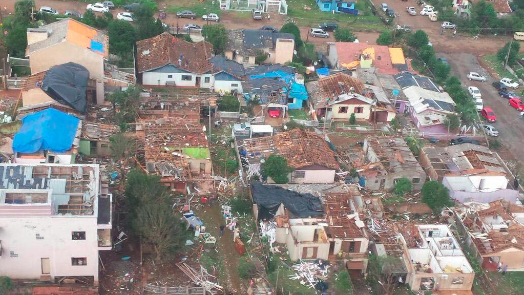 tornado strikes brazil  killing at least two people and