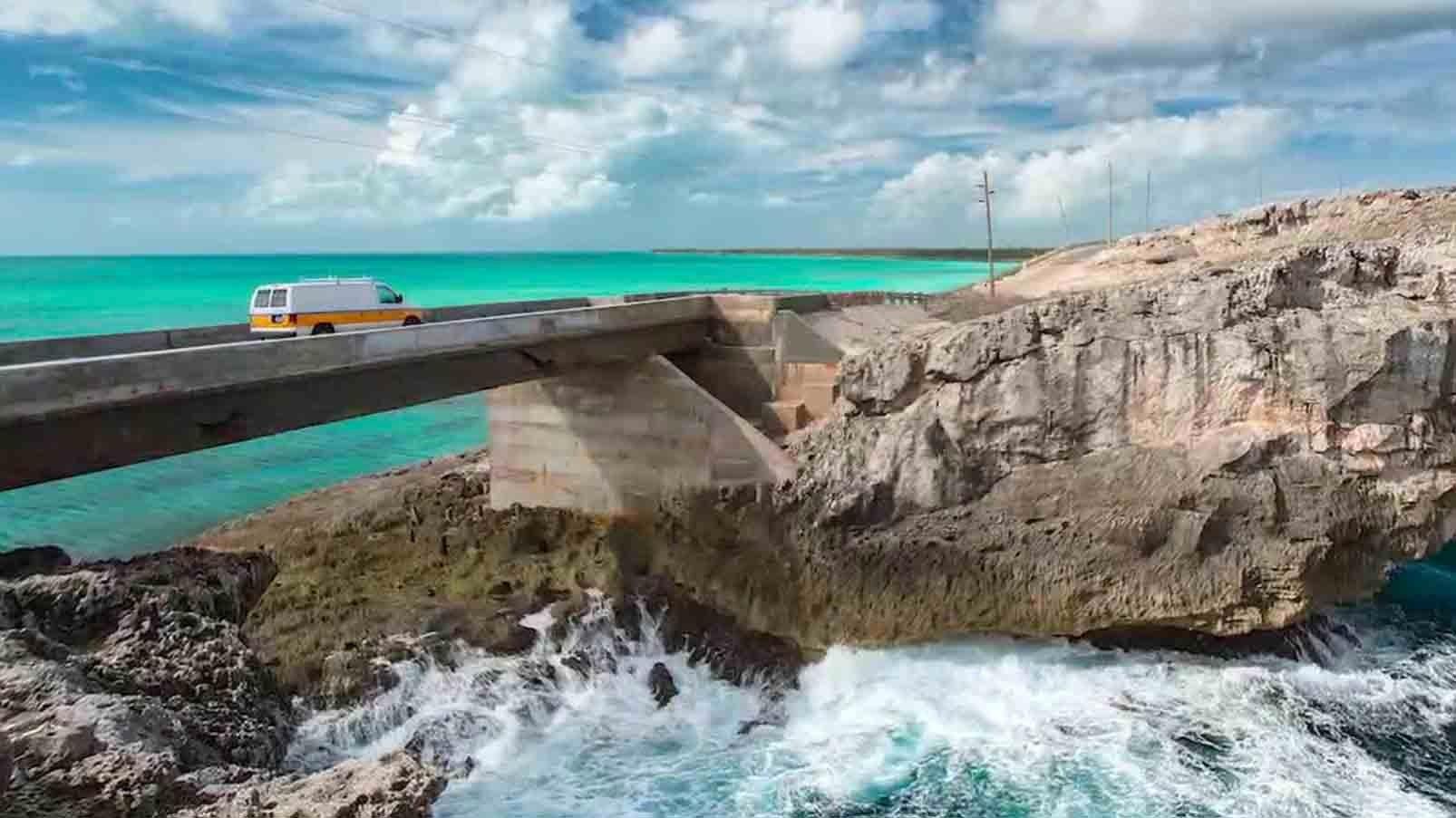 Bahamas Bridge the 'Narrowest Place on Earth'