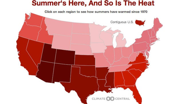 Summer Weather Continues to Get Hotter in Every U.S. Region Since 1970