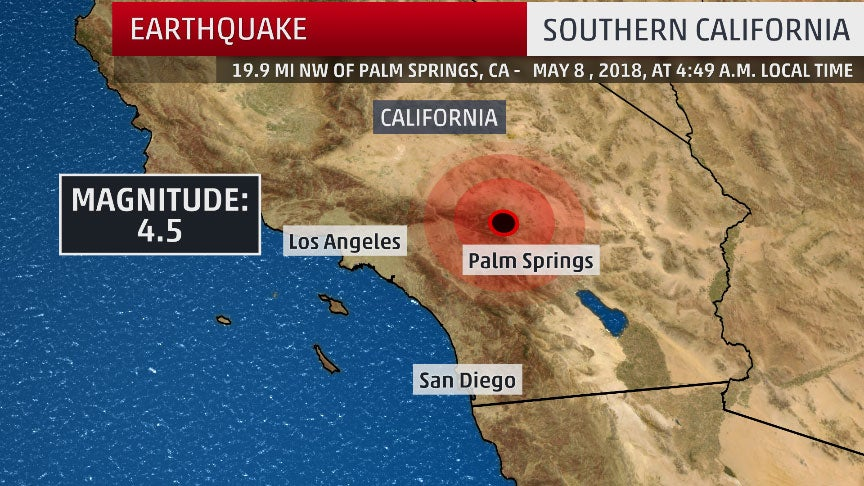 Southern California Shaken By 4 5 Magnitude Earthquake
