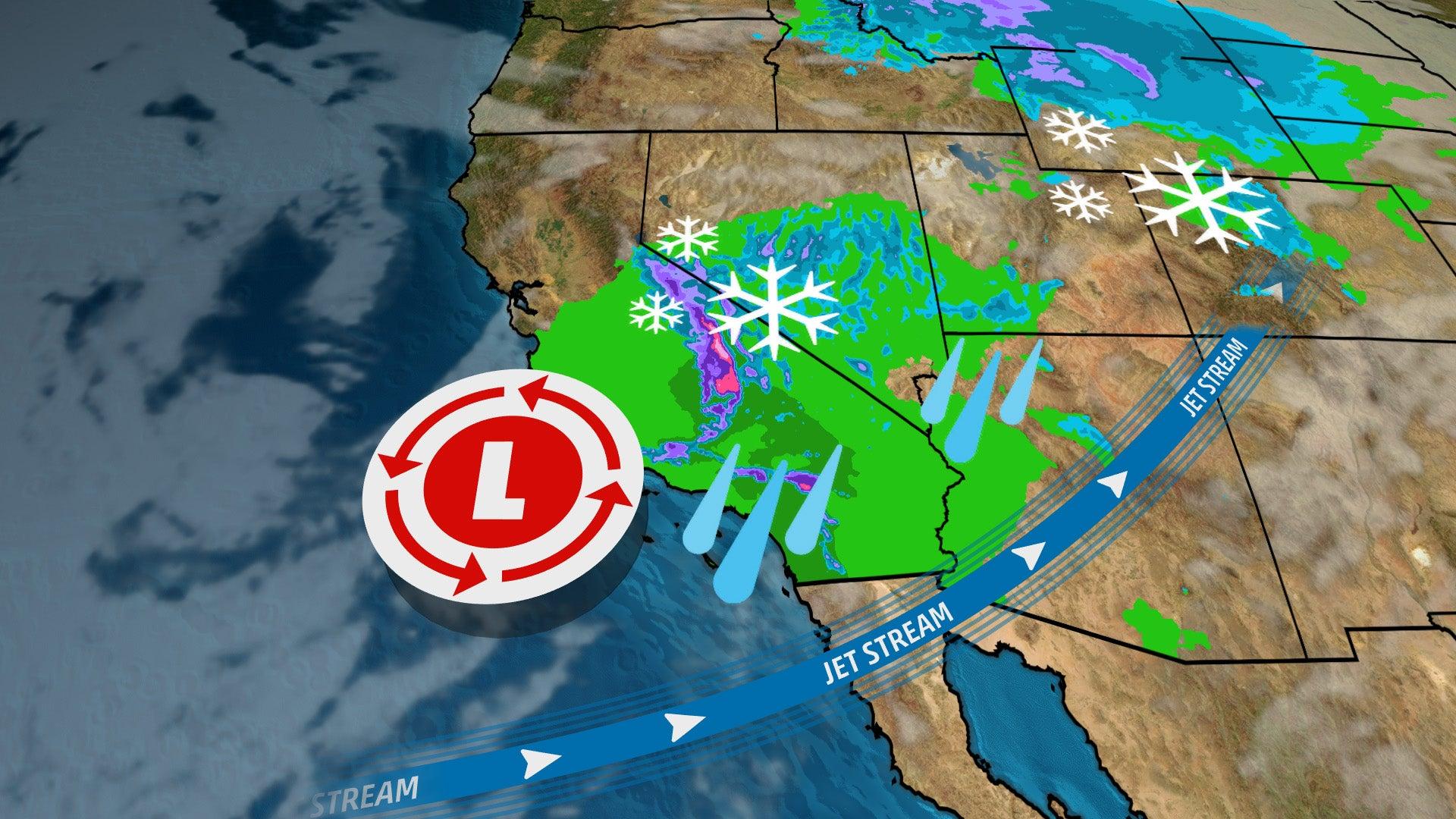 California Rain, Mountain Snow to Continue Through Friday ...
