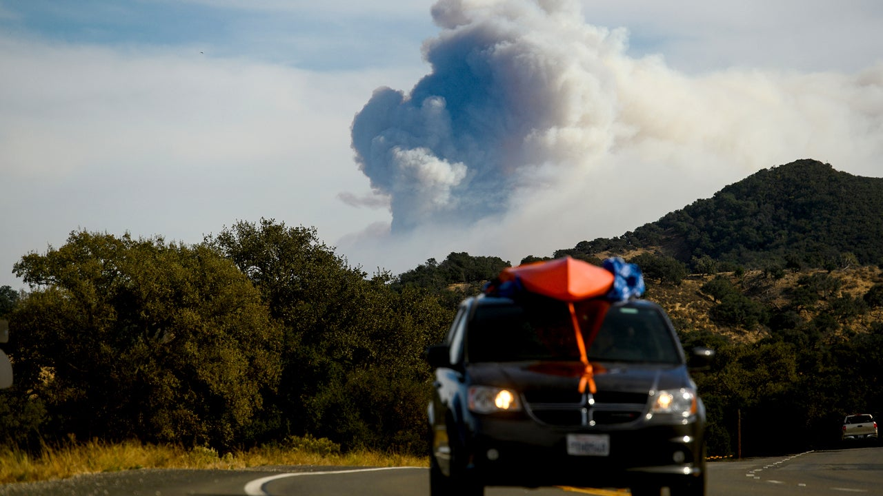 Rain Hits California's Cave Fire Area For First Time in 6 Months, Triggers Debris Flow Evacuation Warning