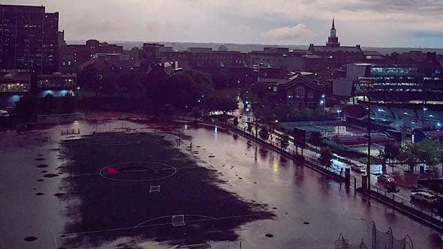 flash flood emergency shuts down interstate 71 in