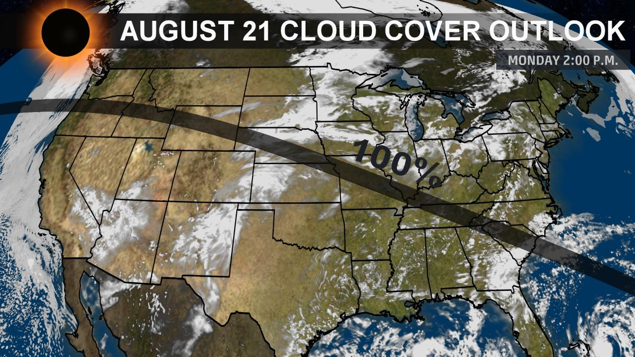 Solar Eclipse Weather Forecast Will Clouds Block Your View The - Us cloud cover map