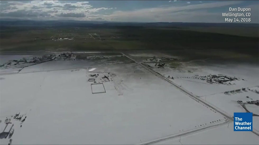 colorado hail swath  not snow  was visible from the air