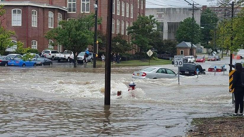 east coast flooding impacts  south carolina hit first