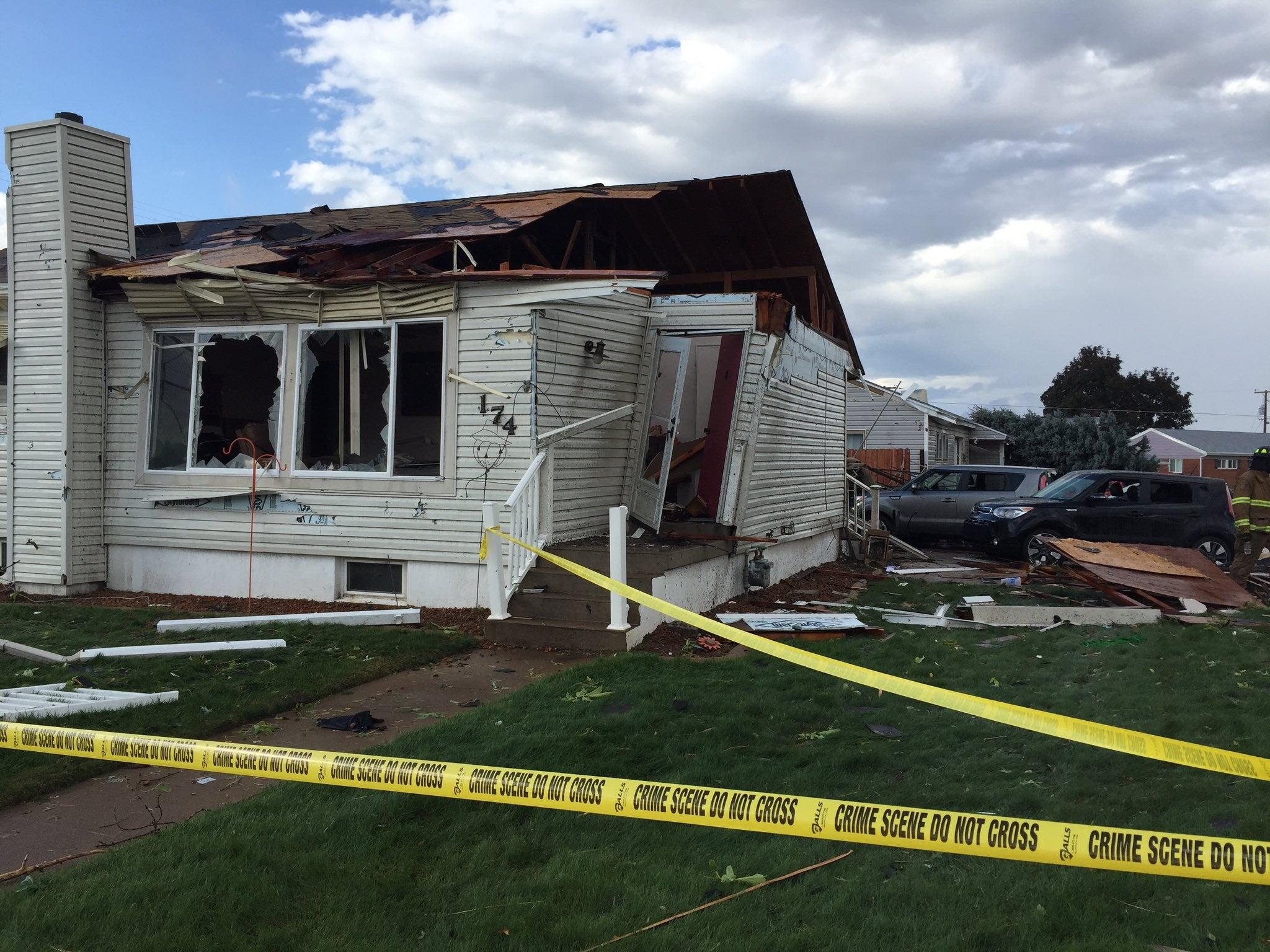 Reported Tornado Hits South Of Ogden Utah Damaging Homes