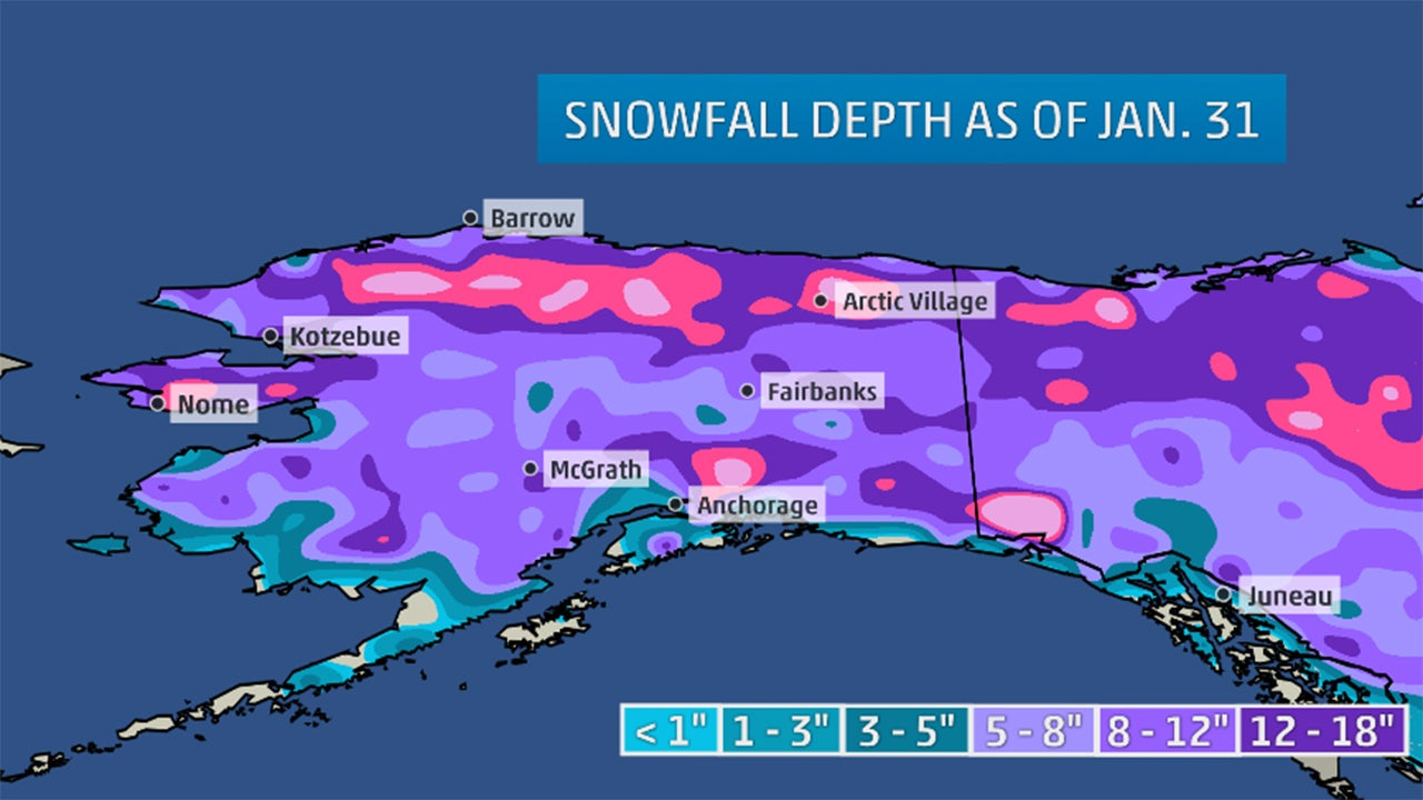 Another Alaska Snow Drought Sets Records The Weather Channel - Snow cover map usa