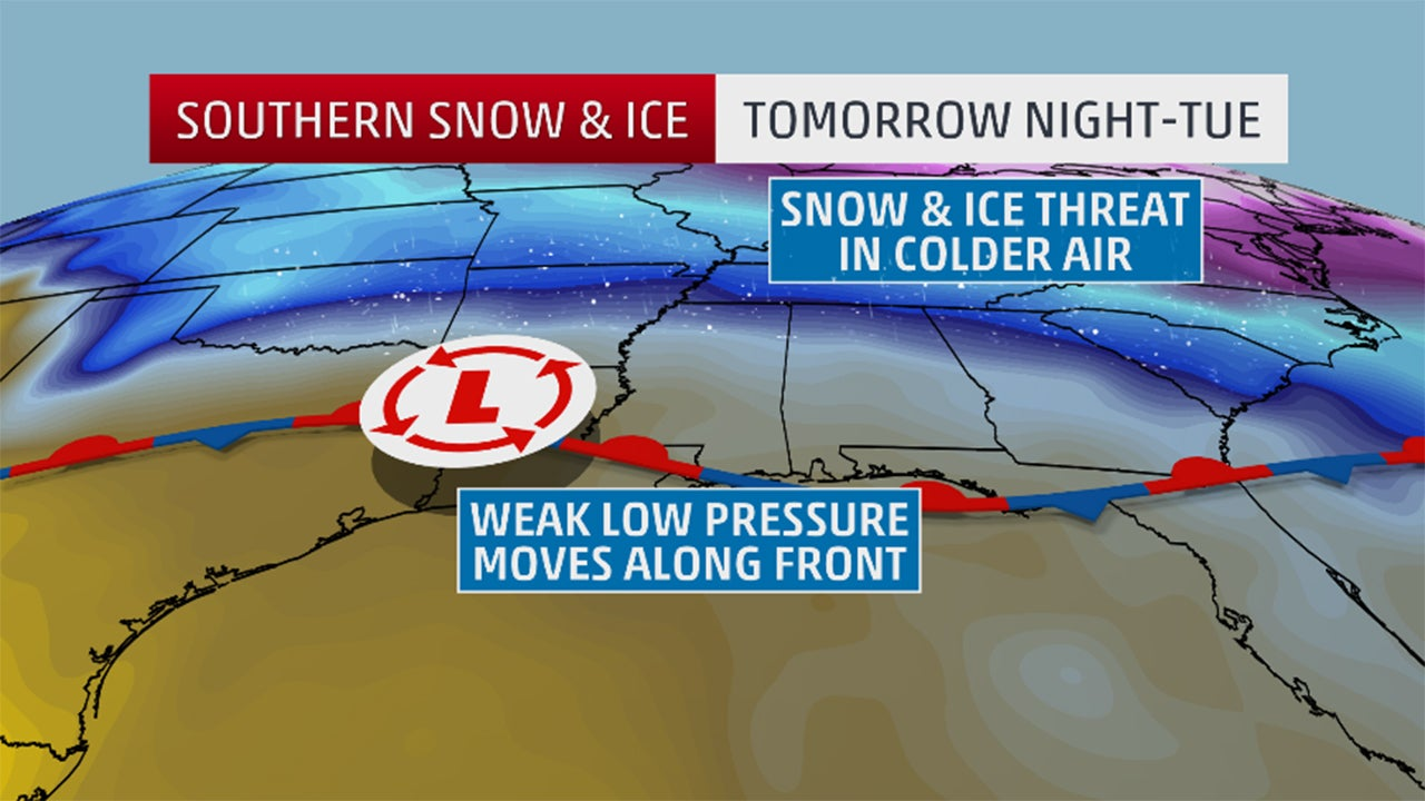 Long Track Winter Storm Could Bring Southern Snow And Ice