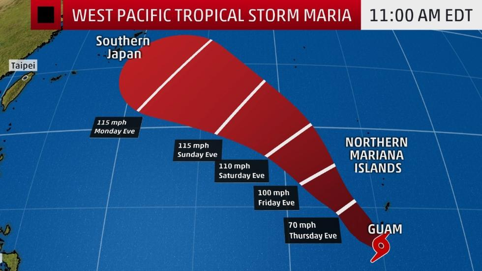 west pacific maria intensifying northwest of guam  why this name is still being used