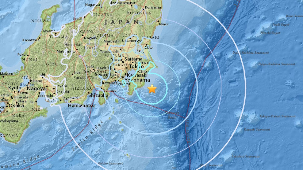Starkes Erdbeben: In Tokio schwanken die Häuser