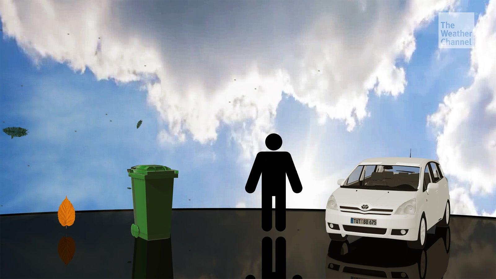 Ab welcher Windstärke Menschen und Autos weggeweht werden
